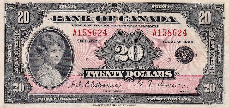 Жизнь королевы Великобритании Елизаветы II в 17 банкнотах (17 фото)
