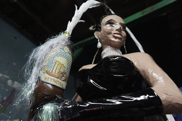 A pinata depicting TV celebrity Kim Kardashian is seen inside a workshop in Reynosa December 6, 2014