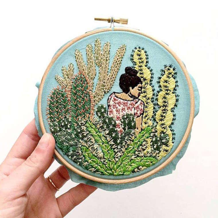 Les illustrations brodees de Sarah Benning