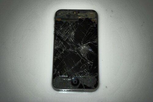 iphone 4 разбитый