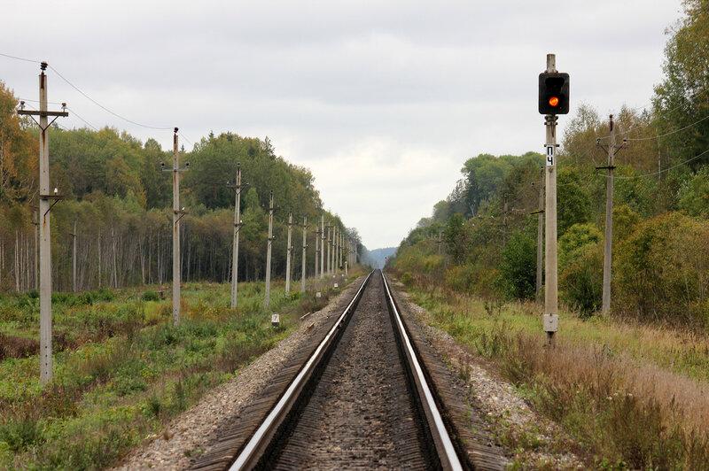 Предупредительный сигнал ПЧ станции Подсосенка со стороны станции Земцы