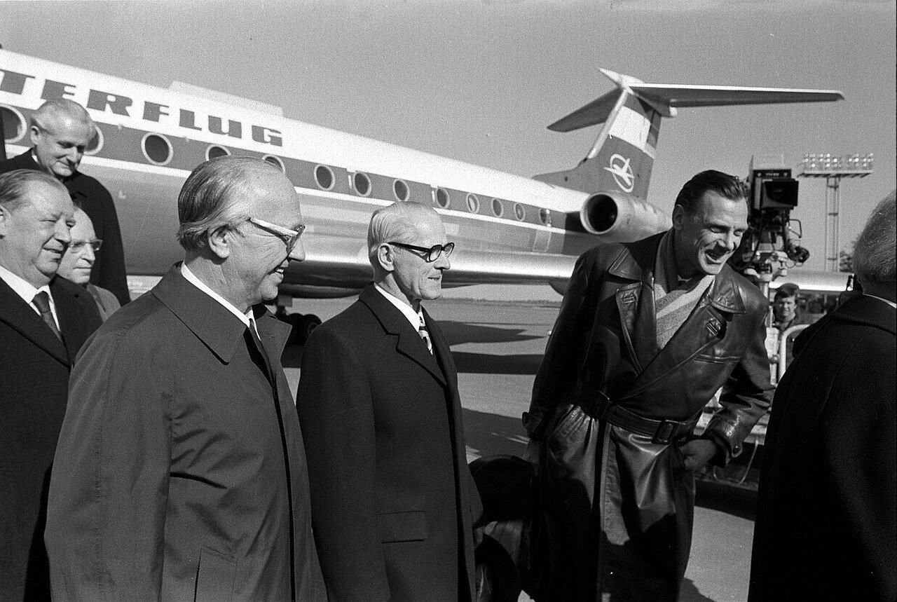 Прибытие Эриха Хонеккера в Москву