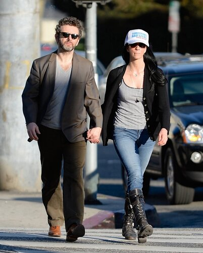 Sarah Silverman, Michael Sheen _ 022314K14_SILVERMAN_NPG_03