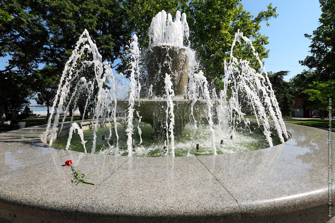 Приморский бульвар фонтан