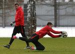 Тренировка Спартака перед матчем с Крыльями Советов