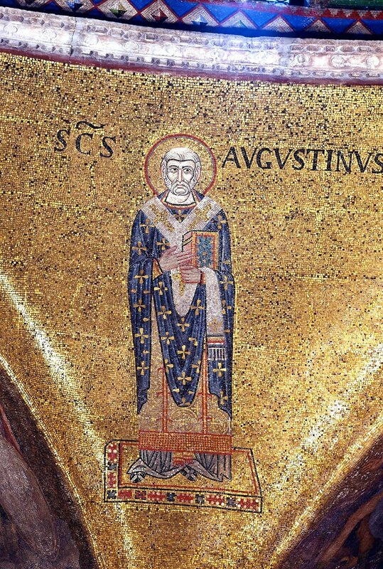 Святой Блаженный Августин. Мозаика XI века в соборе Святого Марка (Сан Марко) в Венеции.