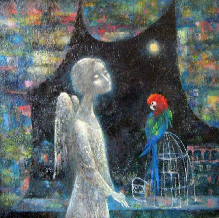 Анна Ермолаева. Ангел с попугаем.jpg