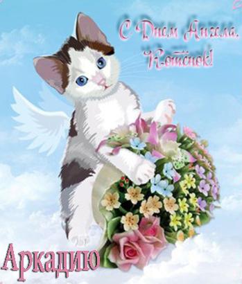 Аркадию. С Днем ангела, котенок!
