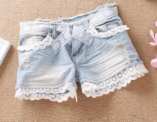 Шорты из старых джинсов своими руками фото с дырочками