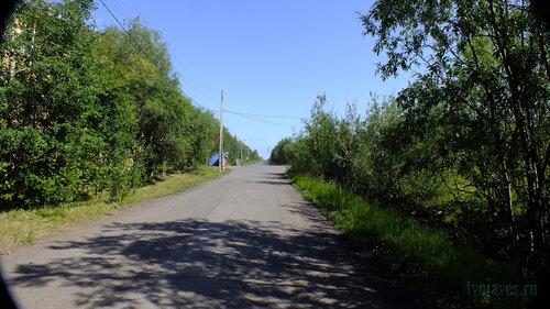 Фото города Инта №5128  Улица Коммунистическая в восточном направлении в районе Геологической 1 16.07.2013_12:08