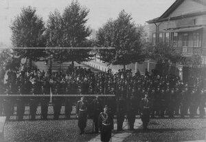 Знаменная рота полка в строю.