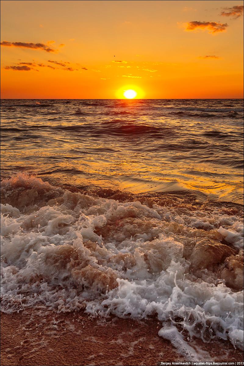 Закат на Генеральских пляжах