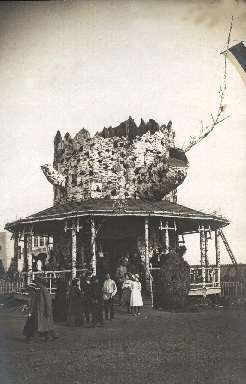 Лесной павильон Первой Западно-Сибирской сельскохозяйственной, лесной и торгово-промышленной выставки