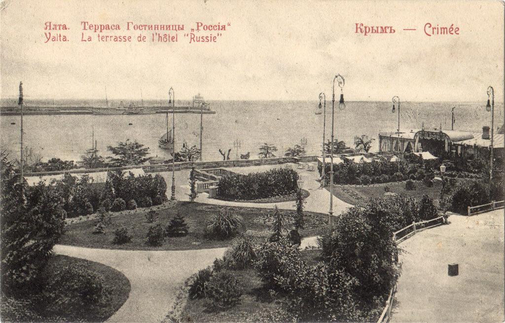 Терраса гостиницы Россия