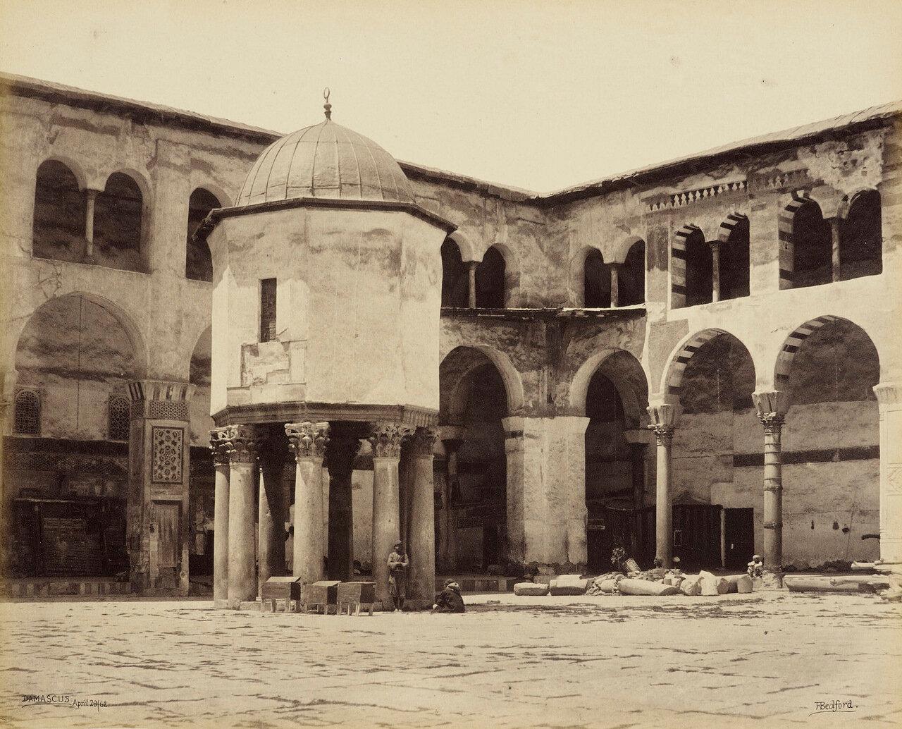 29 апреля 1862. Фонтан во дворе Большой мечети. Дамаск