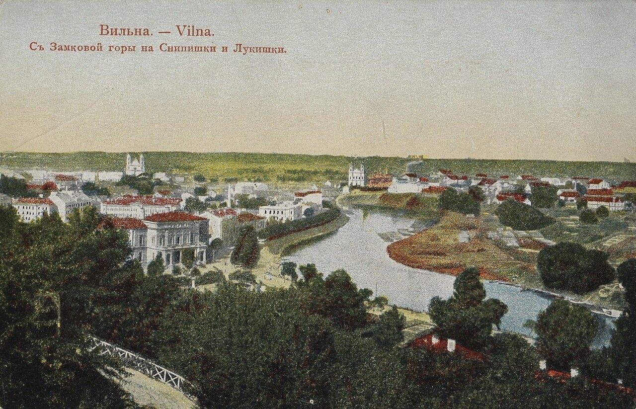 Вид с Замковой горы на Снипишки и Лукишки