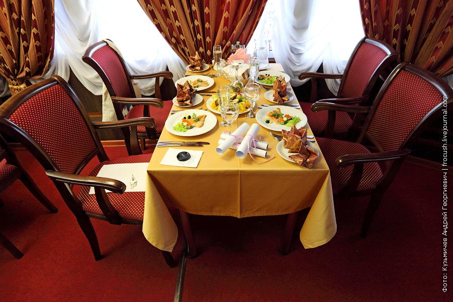 Наш столик перед Капитанским ужином