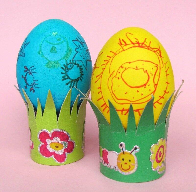 Подставки под яйца на Пасху
