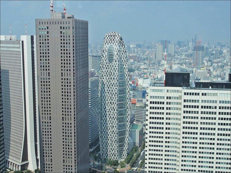 Mode Gakuen Cocoon Tower Вид с 45 этажа смотровой площадки Токийского муниципалитета