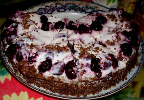 Торт  Кофейная вишня
