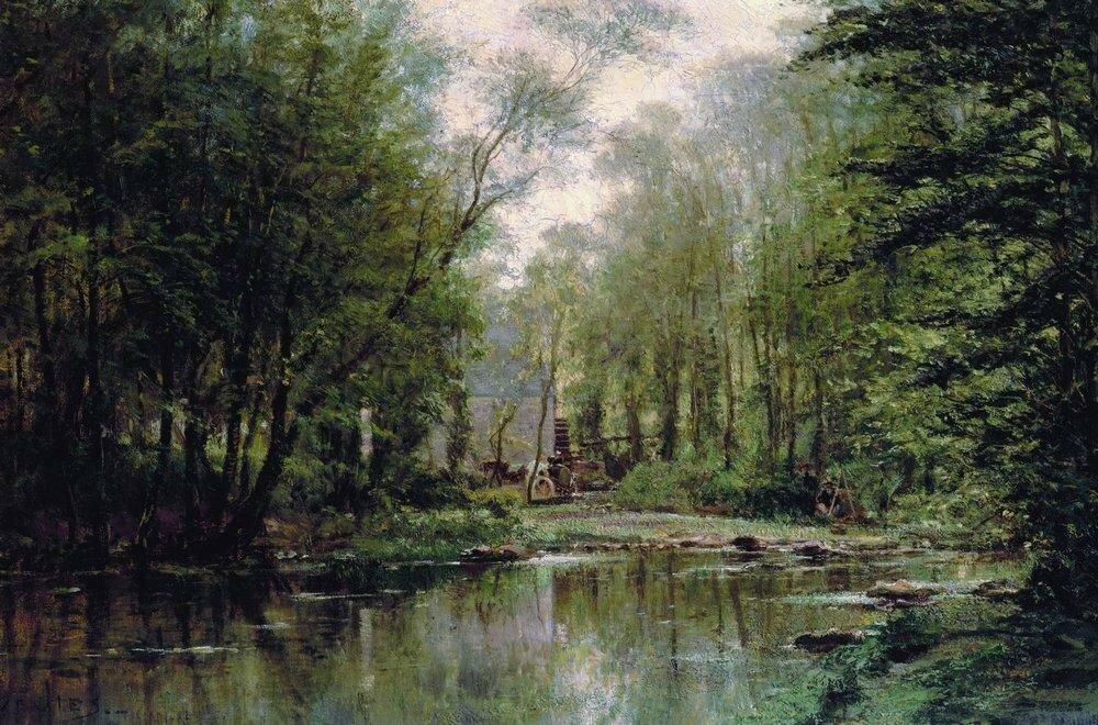 Лес в Вёле. Нормандия. 1871.jpg