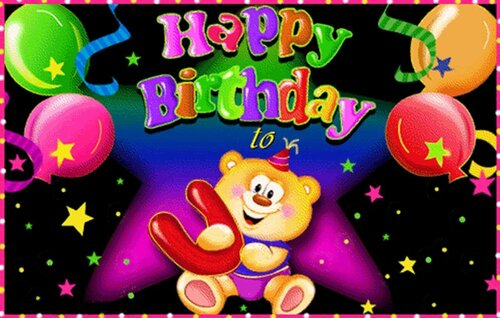 Colorful greeting card happy birthday online