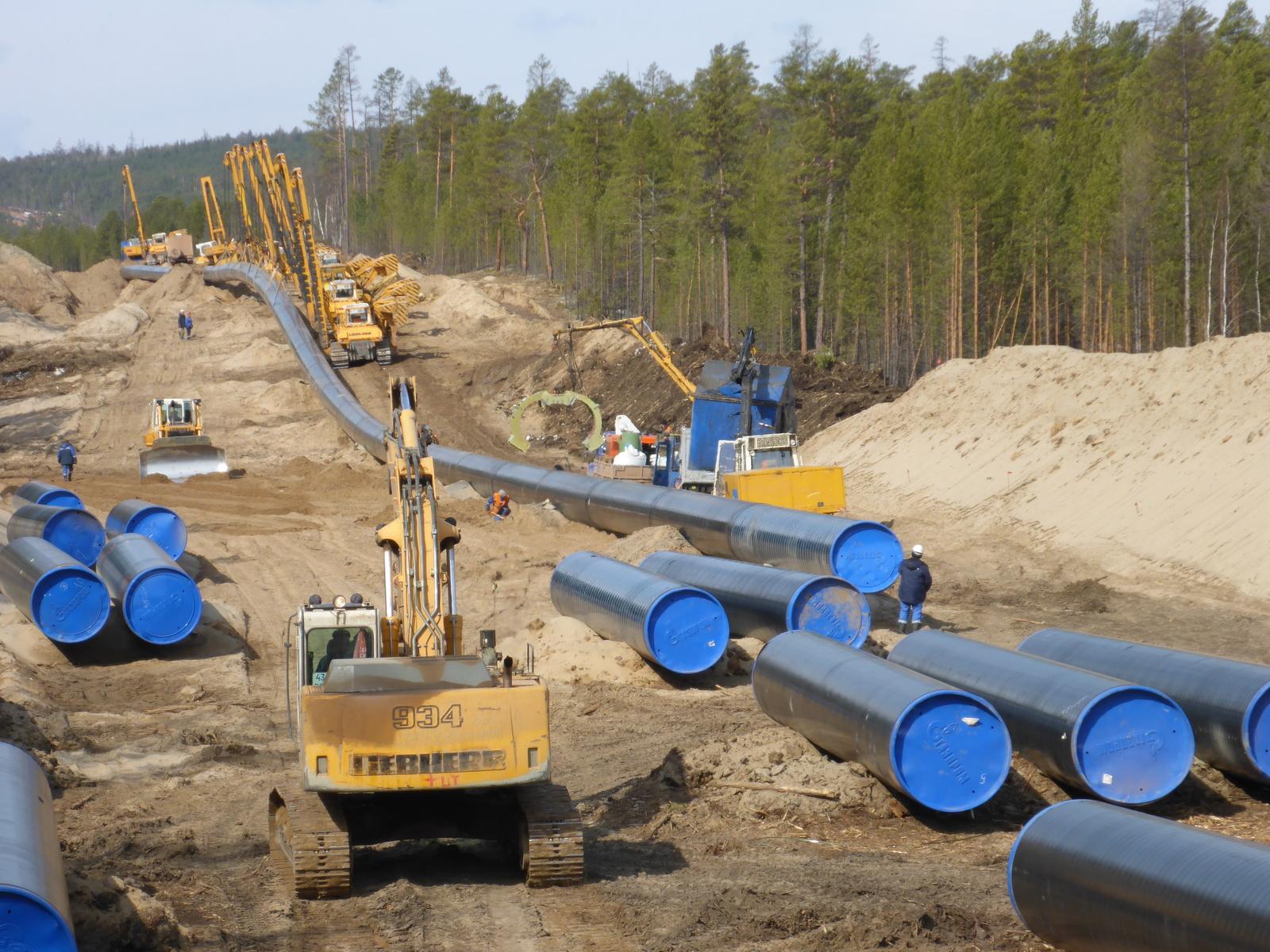 Работа на газопроводе Сила Сибири