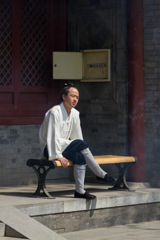 Монах, храм Белого облака, Пекин