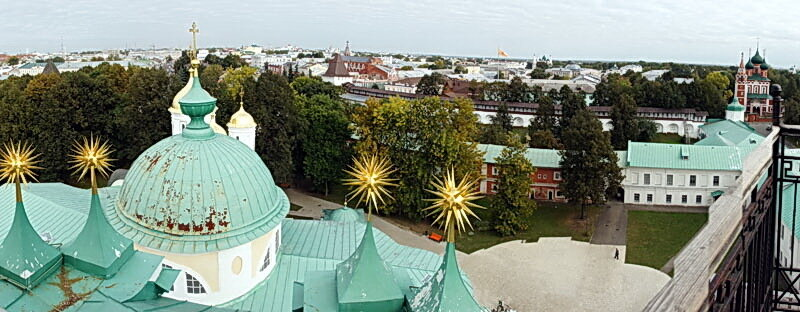 Смотровые площадки Золотого Кольца 11 - Ярославль - Звонница Спасского монастыря