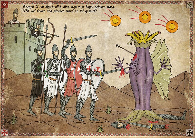 Крестоносцы сражаются со Старцем