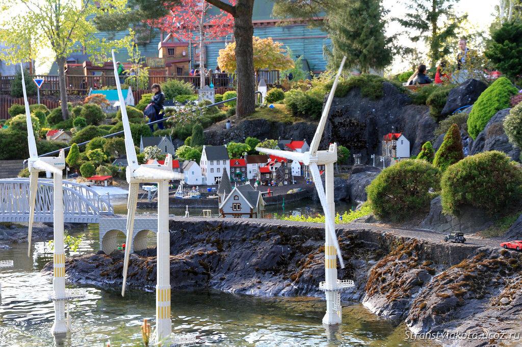 Города из кубиков лего в парке Леголенд, Дания