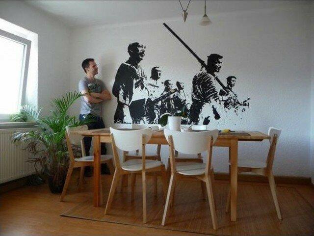 Как нарисовать черно-белую картину у себя на стене?
