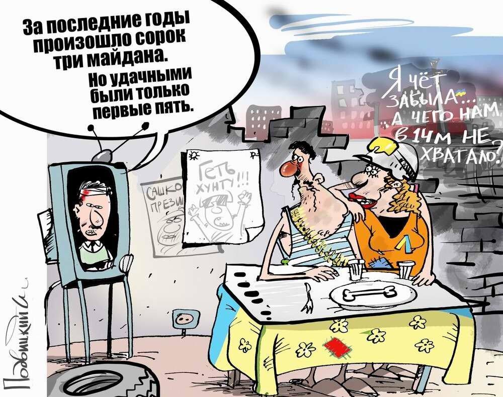 Россия и Украина - Карикатурист Виталий Подвицкий  (28)