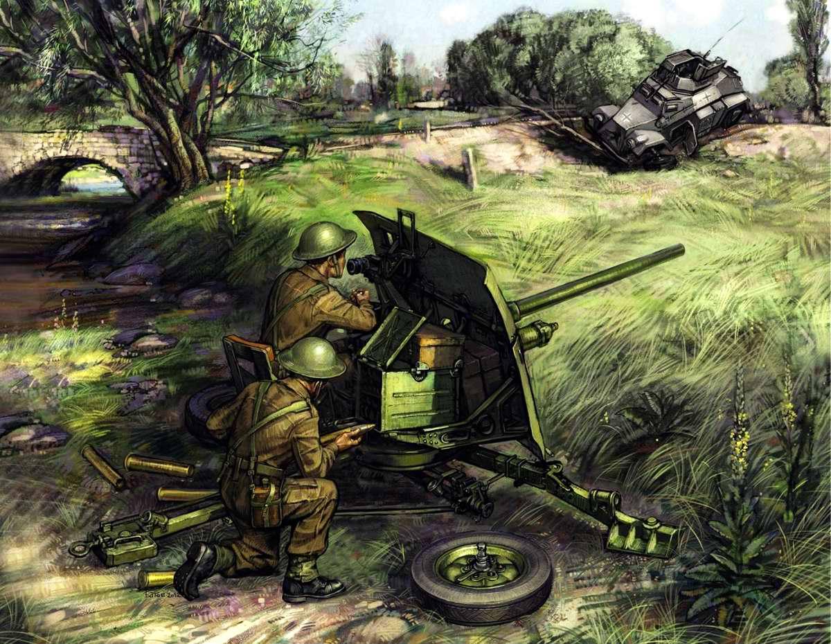 Британская противотанковая пушка QF 2-pounder