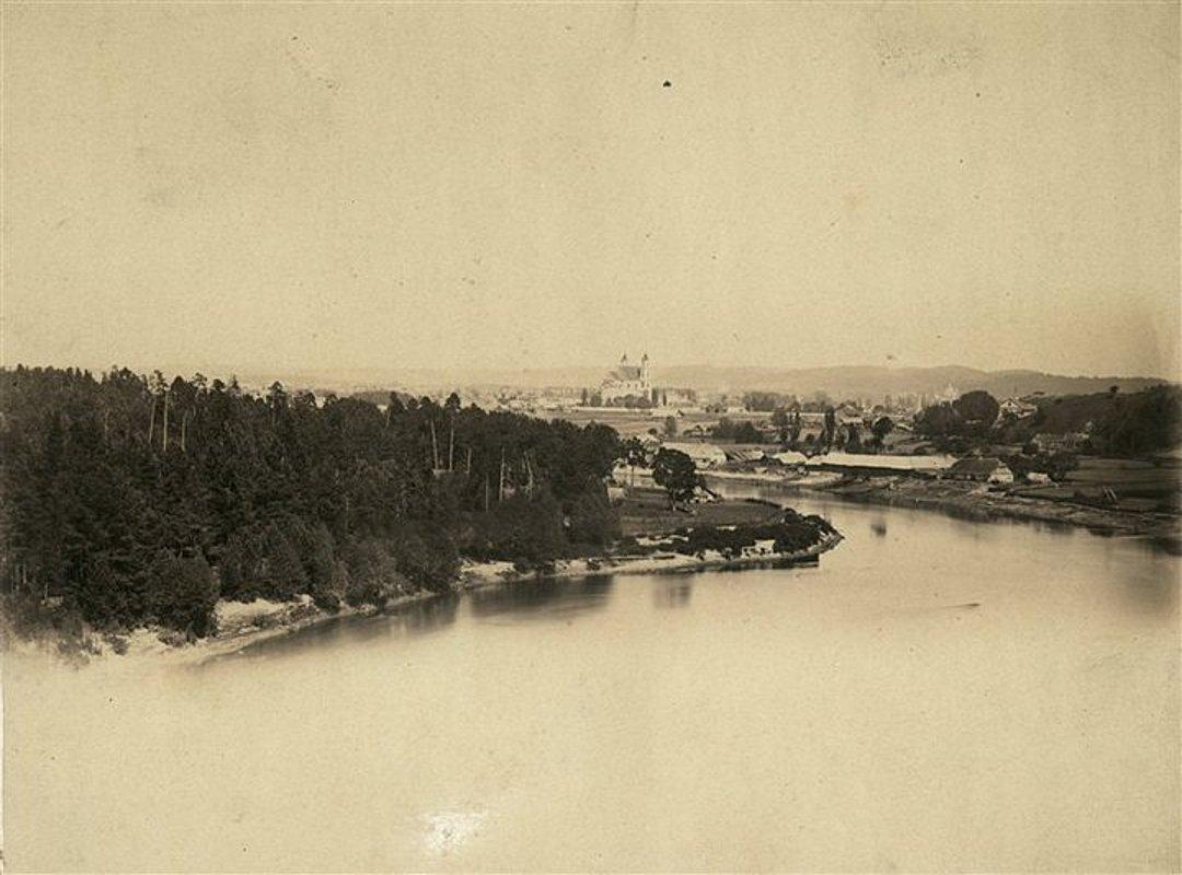 Панорама с видом на костел св. Якова и Филиппа. 1860-1865