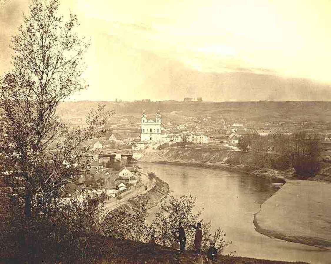 Панорама Шнипишек с горы Гедимина