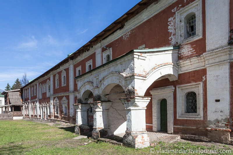 Северо-восточный келейный корпус (1670-1690 гг). Спасо-Преображенский монастырь. Ярославль.