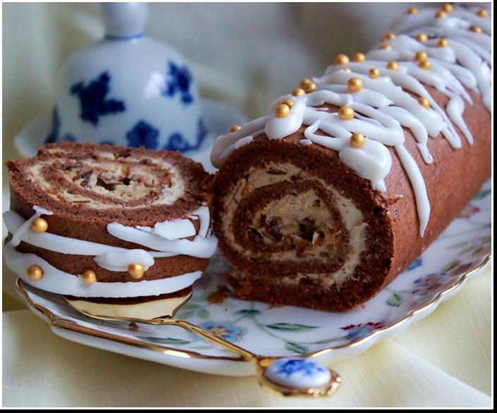 Шоколадный рулет «Оленька»