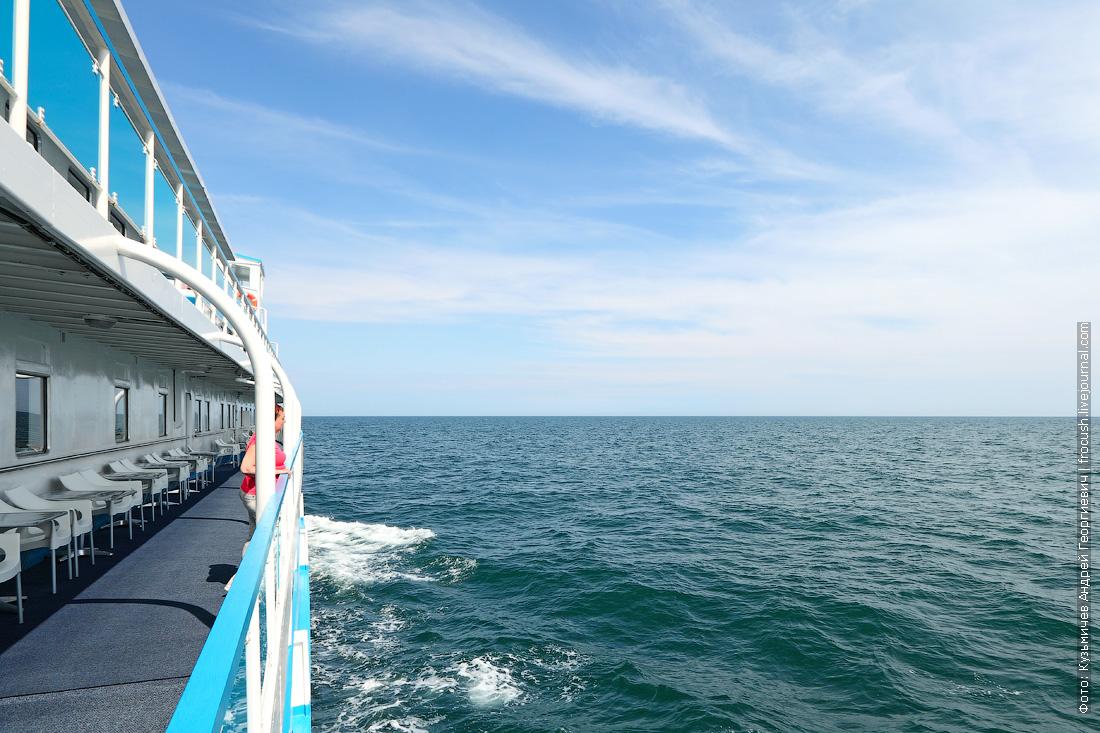 открытое Каспийское море