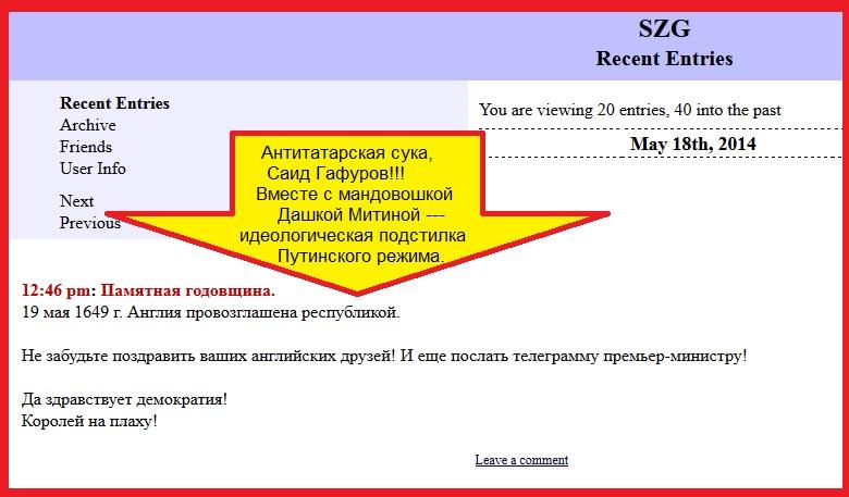 Гафуров, Татары, Крым, Митина