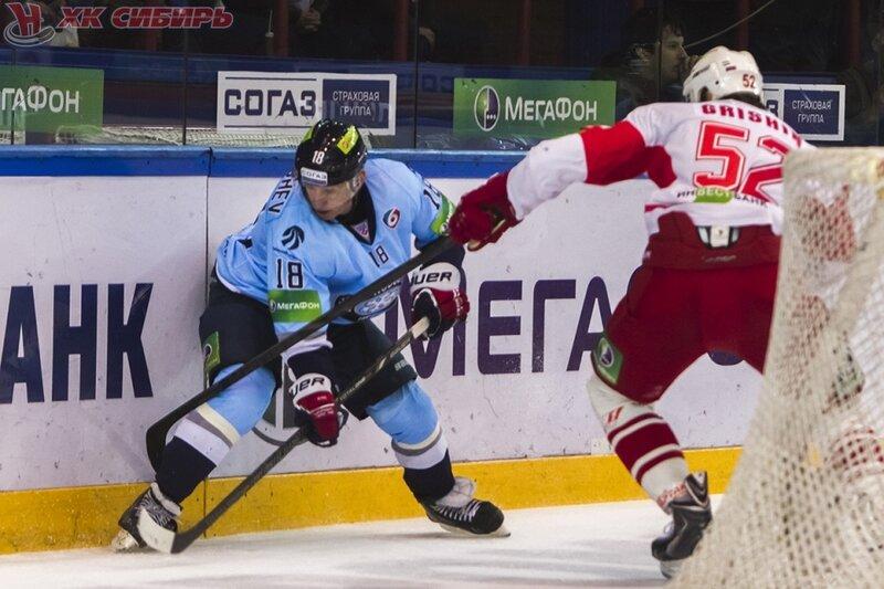 «Сибирь» vs «Спартак» 1:2 чемпионат КХЛ 2013-2014 (Фото)