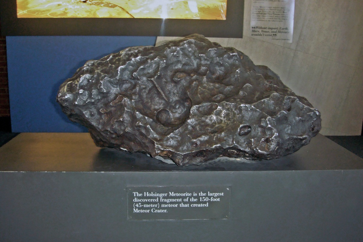 Largest discovered fragment from the meteorite that formed Meteor Crater, Arizona