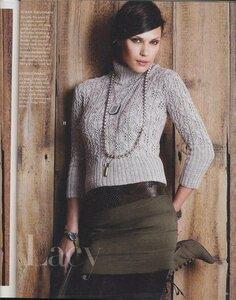 Lacy из Vogue - в жгутах-ажурах свитерок