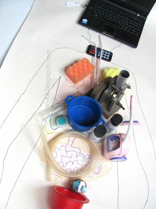 анатомия человека из подручных материалов