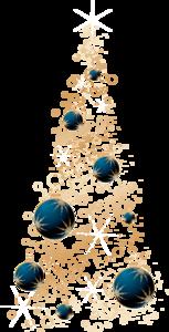 золотая с синими шарами