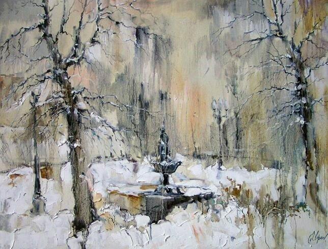 Анна Чарина. Зимний фонтан. Сквер у Андреевского моста.jpg