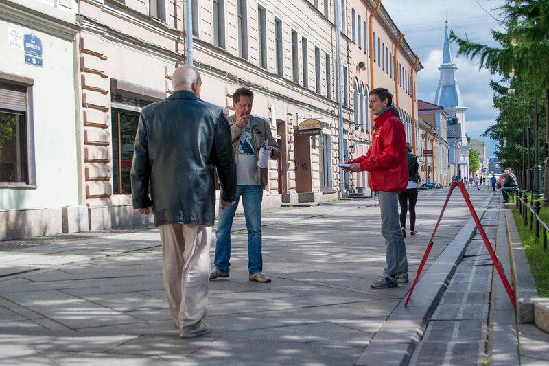Антибандеровский пикет у дома 19 по 6-й линии В.О.