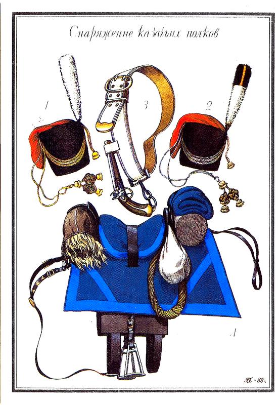 Снаряжение казачьих полков.