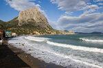 361 Пляж Нового Света и волны