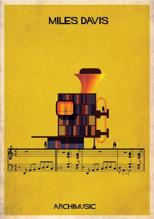 Музыка и архитектура  в проекте Archimusic от испанца ©Federico Babina